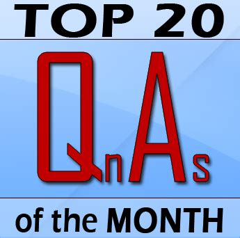 Check Out The Top 20 For This Month The Qa Wiki | top 20 qnas of the month october 2011 pakaccountants com