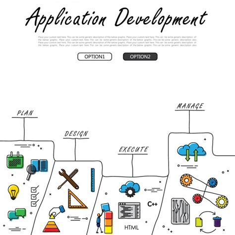 application design vector application development design vector free download