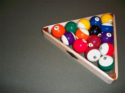 Racking Pool Balls Properly by What Is The Proper Way To Rack Pool Balls Livestrong
