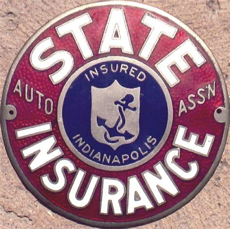 Automobile Club Inter Insurance 2 by Porcelain Auto Club Badges Indiana Minnesota
