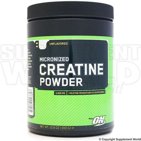 o n creatine optimum nutrition creatine powder