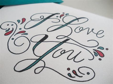 tattoo fonts i love you i you script card by fayeandco on etsy