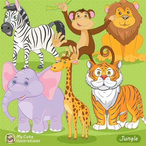 safari animals clip jungle animals clipart safari animals