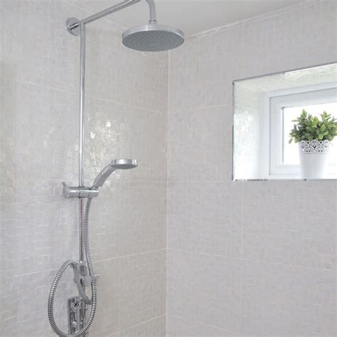 white shower white tiled bathroom with shower modern decorating ideas