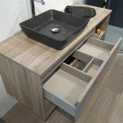 meuble salle de bain tiroir meuble salle de bain cambrian 120 cm 2 tiroirs terra