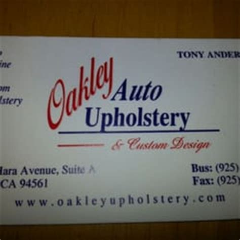 Upholstery Business Oakley Auto Upholstery Custom Design Yelp