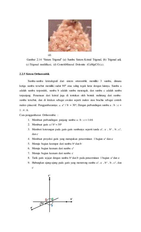 Laporan Praktikum Membuat Garnish | contoh laporan praktikum kristalografi dan mineralogi