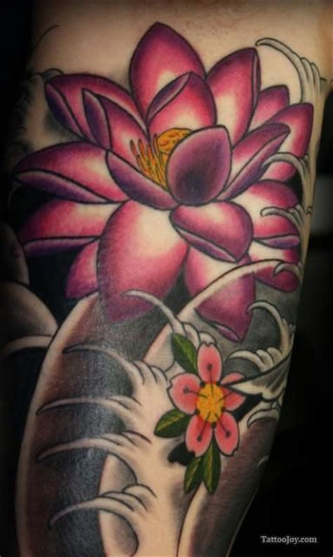flower tattoo representation lotus flowers bloom out of something so dark and gloomy