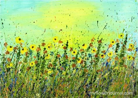 how to splatter acrylic paint on a canvas splatter painting sunflowers and sunsets my flower journal
