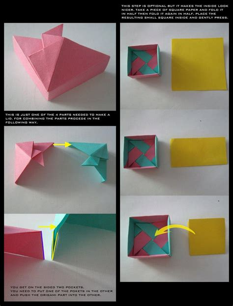 tutorial origami box love papercraft tutorial origami gift box