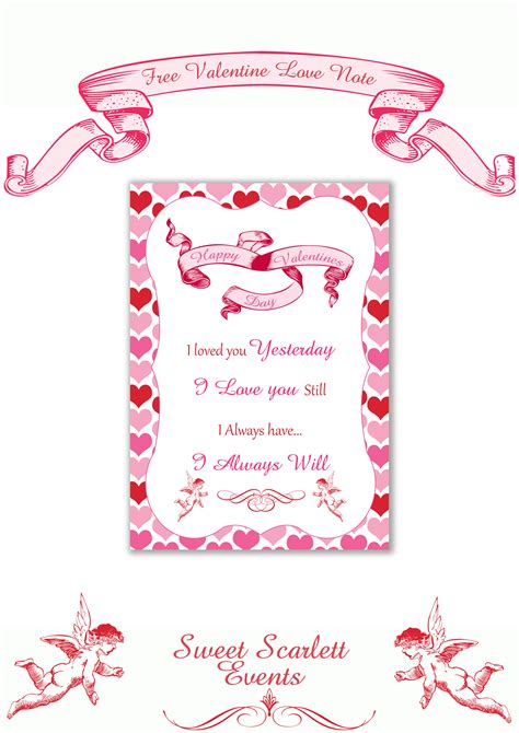 valentines for daughters free s day printables from sweet events