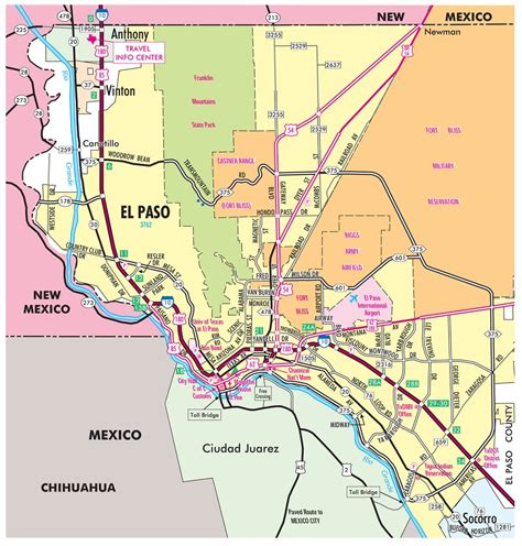 city map of el paso texas el paso regional map maplets