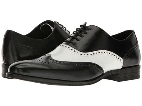 mens black and white wingtip oxford shoes mens shoes stockwell wingtip oxford black