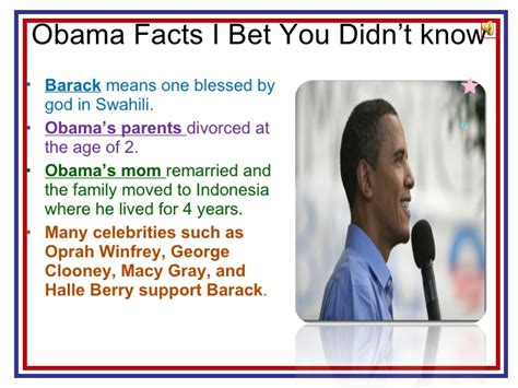 8 Facts About President Obama by Barack Obama And His Family