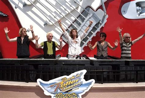 N Friends Roller Coaster spotting steven of aerosmith at rock n