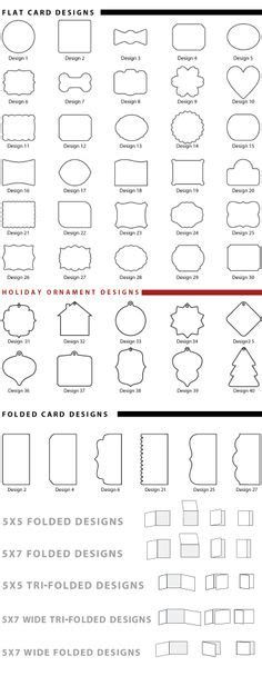 Greeting Card Template Size Chart by Card Sizes And How Many Per Sheet Card