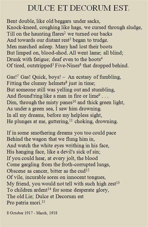 Wilfred Owen Dulce Et Decorum Est Essay by 25 Best Ideas About Dulce Et Decorum Est On Start Of Ww1 Wilfred Owen And Poem