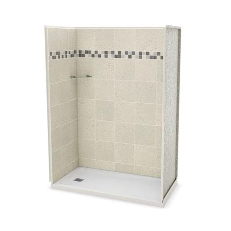 Home Depot Shower Kits by Maax Utile 60 In Left Alcove Shower Kit The Home Depot Canada