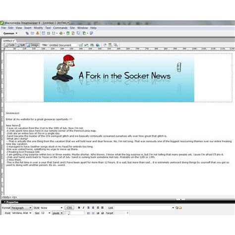 tutorial html newsletter tutorial how to create an html newsletter in dreamweaver