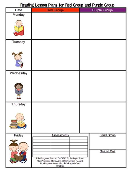 Toddler Lesson Plan Templates Blank by Preschool Weekly Lesson Plan Images