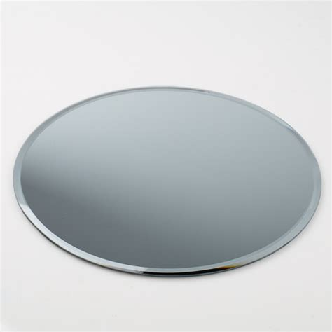 six 12 quot beveled round glass table centerpiece mirrors