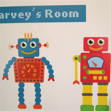 personalised wall sticker personalised robot wall stickers by parkins interiors