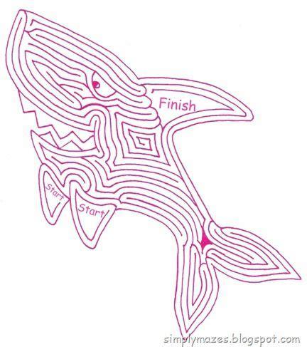 printable shark maze 753 best labirintus images on pinterest countertops