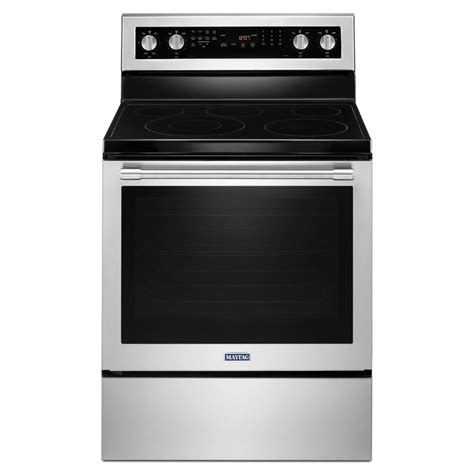 maytag 30 in 6 4 cu ft electric range with true