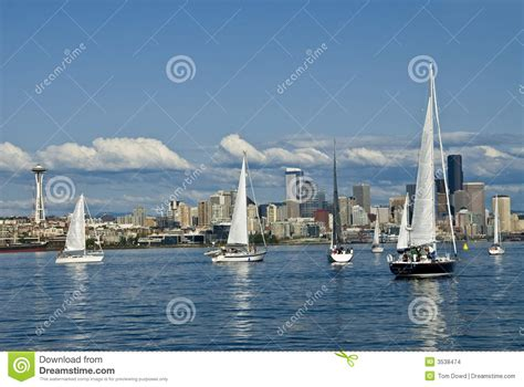 boat graphics seattle wa sailing in seattle stock images image 3538474
