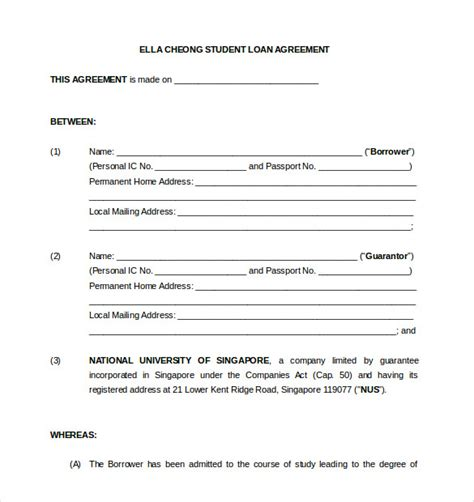 Loan Agreement And Form Templates Vlashed Free Financial Loan Agreement Template