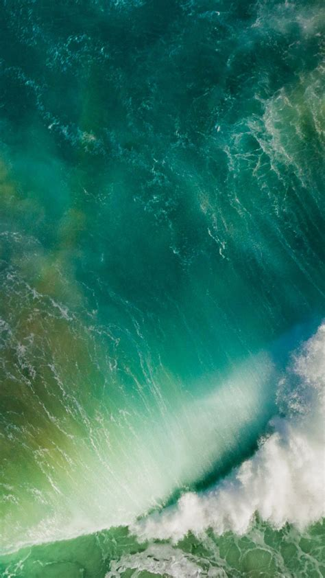 ios  splashing wave default iphone  hd wallpaper hd