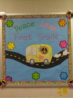 themes of peace education door decoration bulletin board idea third grade is groovy