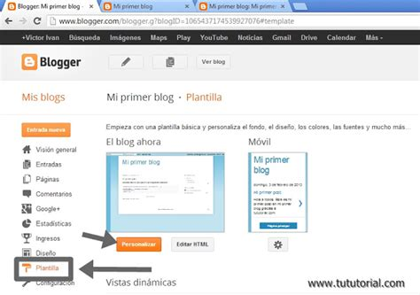 html tutorial for blogger tutorial como crear un blog en blogger paso a paso tu