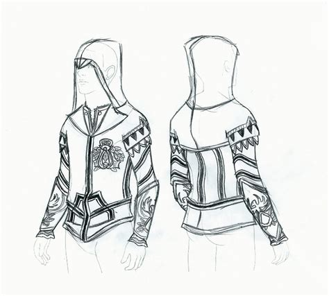 hoodie design drawings assassin s creed 2 ezio hoodie by ellehcore on deviantart