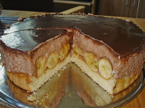 bananen sahne kuchen schoko sahne torte mit bananen beliebte rezepte f 252 r