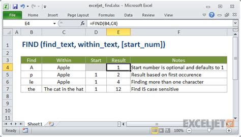 How To Find To Text How To Use The Excel Find Function Exceljet