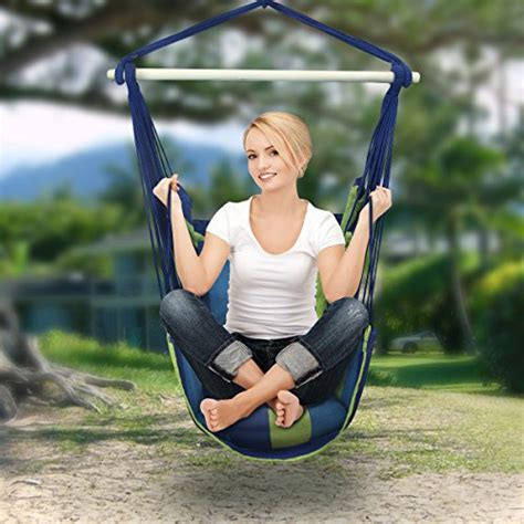 sorbus hanging rope hammock chair swing sorbus blue hanging rope hammock chair swing seat for any