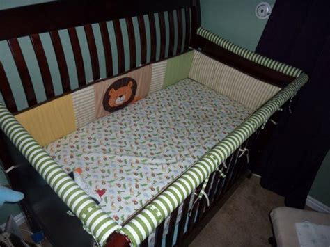 Crib Bumper Padding by Crib Teething Rail To Fit Any Crib Bumper Pads By The Foot