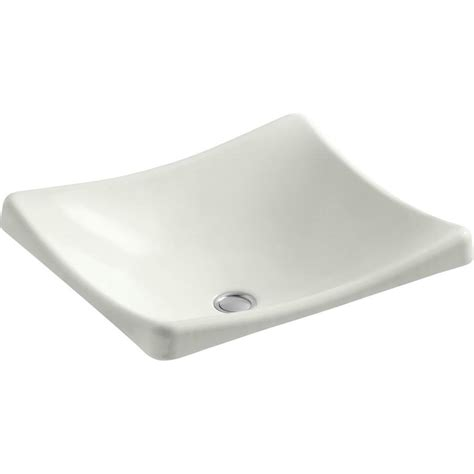 kohler cast iron bathroom sink shop kohler demilav dune cast iron vessel rectangular