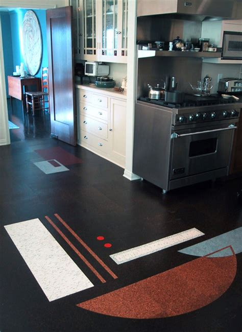 cork flooring modern kitchen los angeles by crogan inlay floors