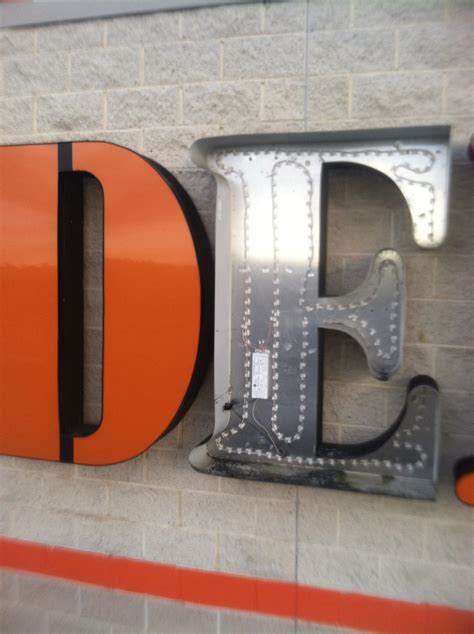 home depot led ark signs