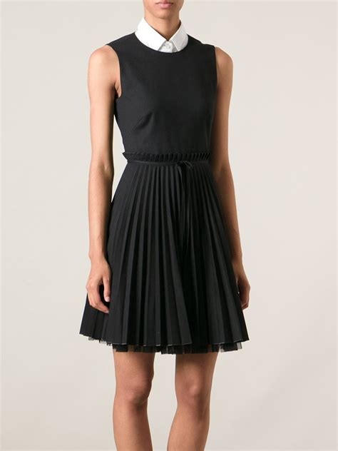 Dress In valentino pleated dress in black lyst