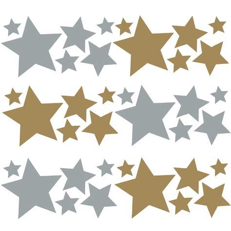 Fenster Aufkleber Gold by 36 Sterne Aufkleber Mix Set Gold Silber Wandtattoo Fenster