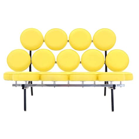 george nelson marshmallow sofa george nelson for herman miller marshmallow sofa in yellow