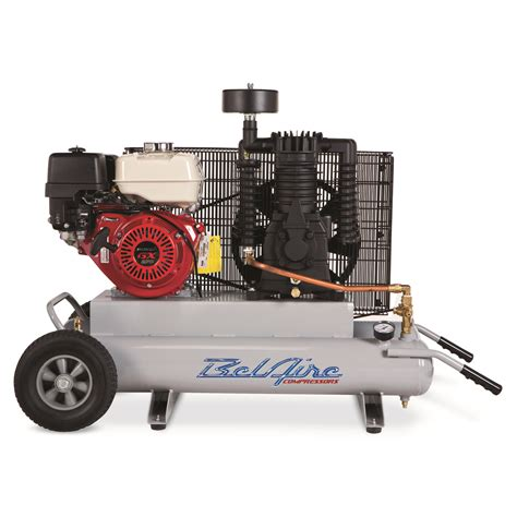 belaire th908 9 hp 2x5 gallon portable gas powered contractor air compressor