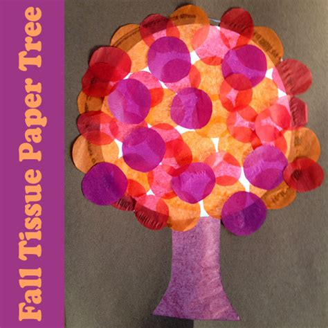 Tissue Paper Arts And Crafts - stained glass tissue paper fall tree make and takes