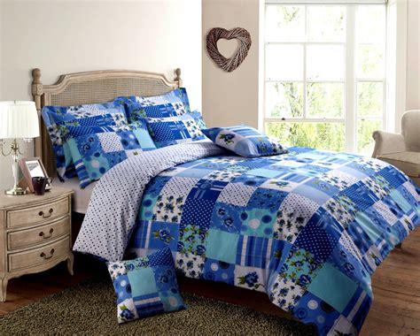 blue turquoise colour patchwork design reversible