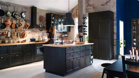 A Traditional Kitchen With Dark Cabinets Design And Ideas Ikea Black Kitchen Cabinets
