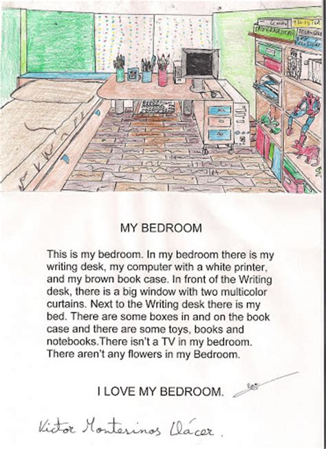 description of bedroom my bedroom by v 237 ctor montesinos ll 225 cer
