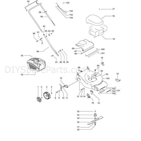 mcculloch parts diagram mcculloch m46 450c 96664470100 parts diagram page 1